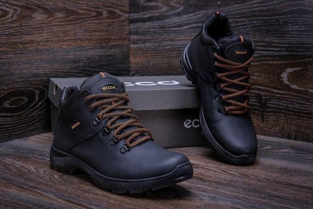 Infinity BІасk 552 ботинки E-series Стильные Зимние кожаные мужские