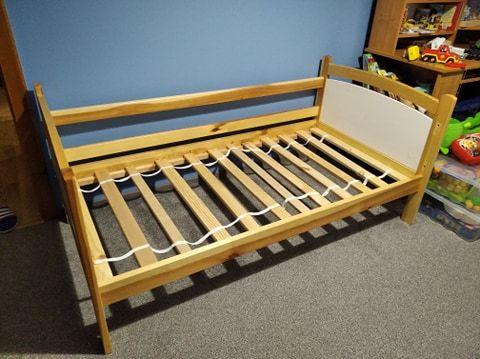 Łóżko sosnowe ze stelażem 80x160 + materac gratis