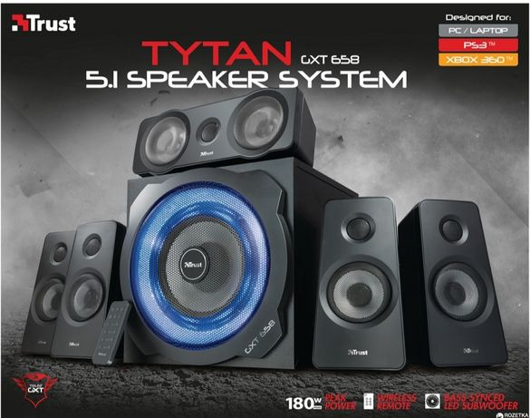 Акустична система Trust GXT 658 Tytan 5.1 Surround Black