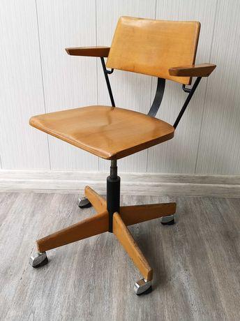 krzesło fotel STOLL GIROFLEX vintage retro 1967 rok obracany kółka