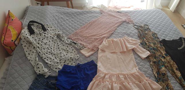 Zestaw ubrań sukienki,kombinezon,koszula,tunika,spodenki