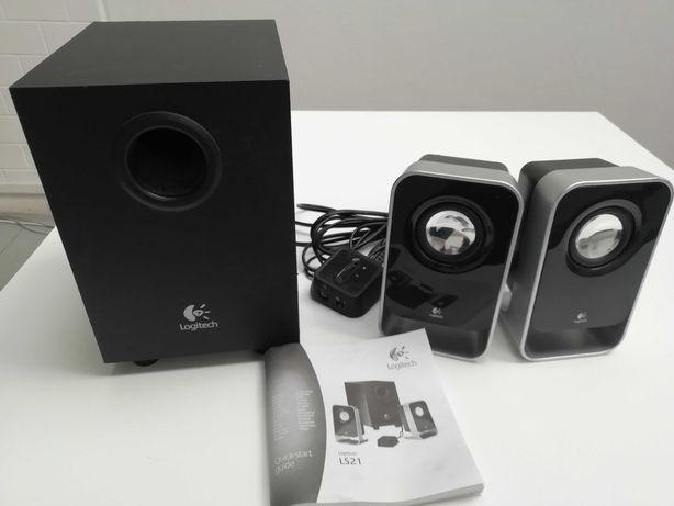 Sistema de alto-falantes estéreo Logitech LS21 2.1  em caixa original