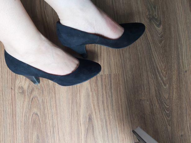 Buty, czółenka na obcasie, niskim H&M rozmiar 37 czarne