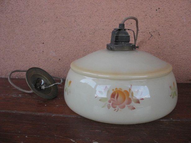 Stara oryginalna lampa elektryczna-zwis z lat XXX-stych