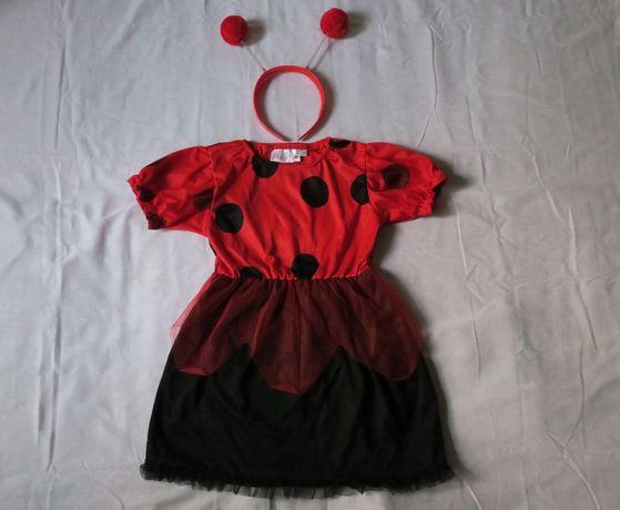 Strój karnawałowy biedronka r 98-116, 4-6 l sukienka biedroneczka
