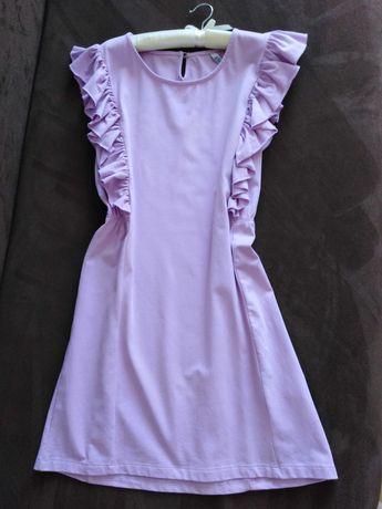 Nowa liliowa sukienka falbanki
