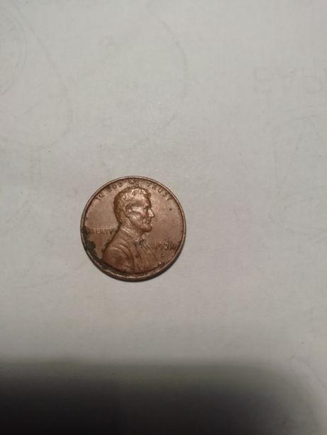 Монета США 1 цент 1971г