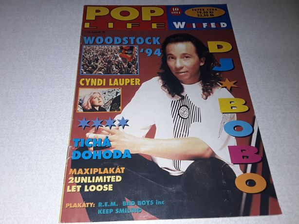 Журнал Poplife 1994 год Чехия DJ Bobo 2unlimited REM плакат