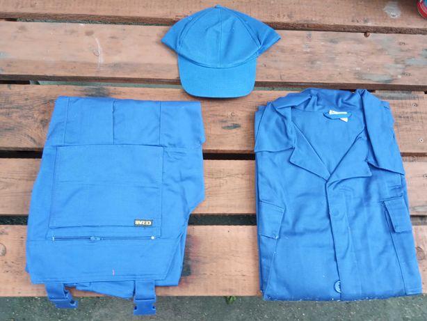 Nowe ubranie robocze komplet bluza spodnie czapka