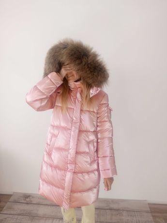 Зимняя куртка для девочки, пальто пуховик moncler 122 1164 128 134 140