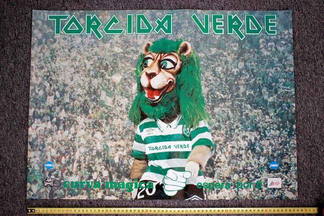 Cartaz - Claque Torcida Verde - Anos 80 - Sporting Clube Portugal