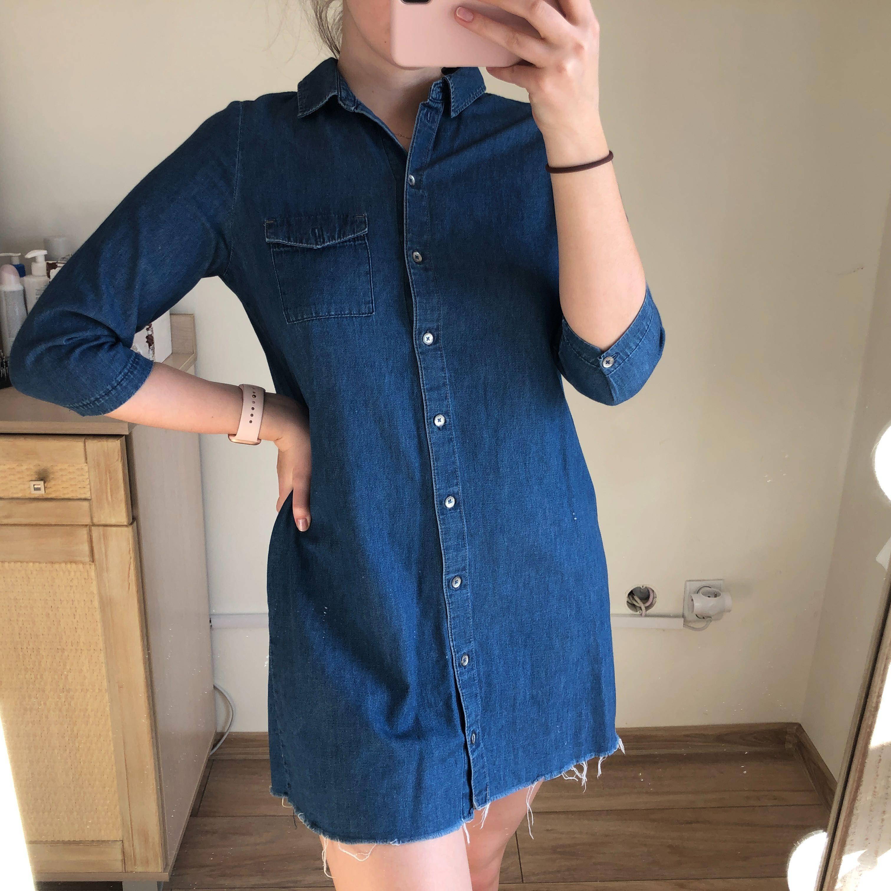 sukienka jeansowa Zara wiosna lato