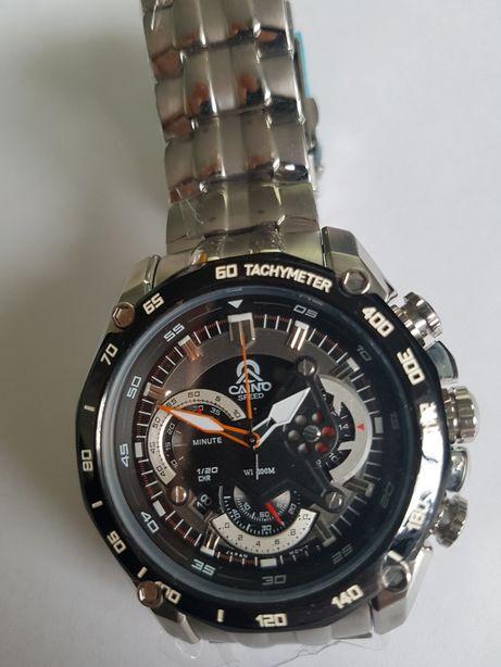 Zegarek sportowy japoński mechanizm chronograf na prezent Super