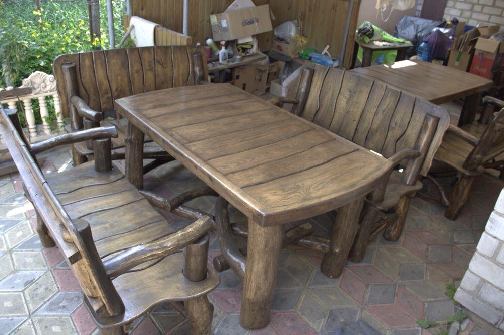 Садовая мебель из дерева, мебель для дачи и сада в баню мебель из дуба Белый Камень - изображение 1