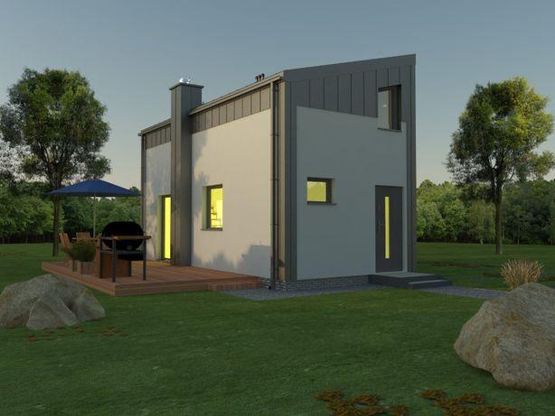 Projekt domu rekreacyjnego 35m2 Bez Pozwolenia