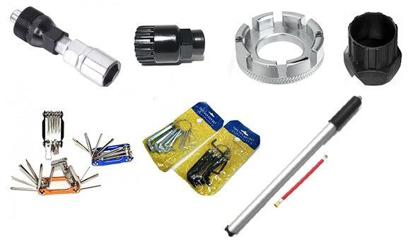 Мультитул,съемник кассеты,трещетки,ключ для спиц,насос ручной,вело