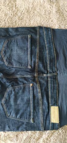 Jeansy ciążowe h&m ciemny granat