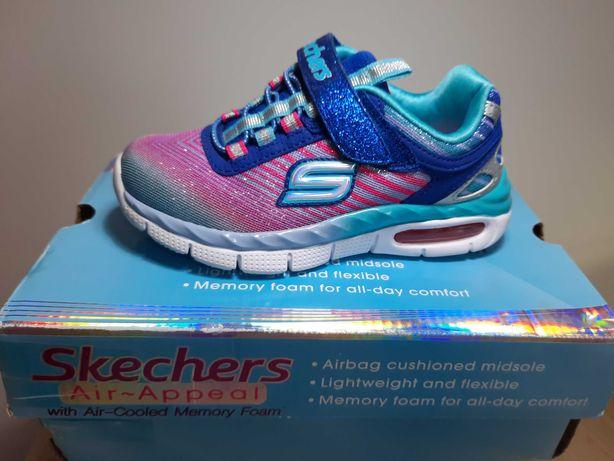 Buty dla dziewczynki firmy Skechers, nowe, rozmiar 27,5cm. Cena 100zł.