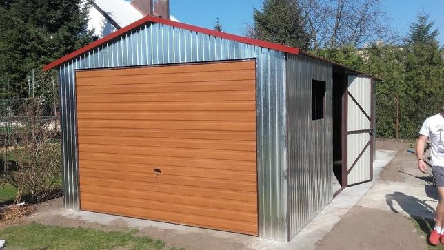 Tanie garaże blaszane, 3,5x7 dwuspad, garaz blaszany, wiaty,wzmocniony