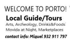 Guia Turístico /Local Guide in Porto