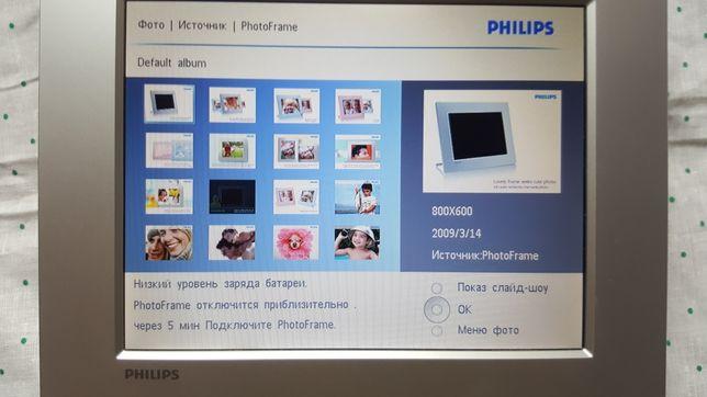 Электронная фоторамка Philips spf2107/10 видео музыка слайд-шоу