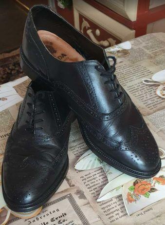 Кожаные мужские туфли оксфорды 41 размер