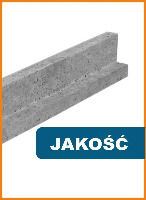 Nadproże nadproża betonowe L-19 1,2 1,5 1,8 2,1 2,4 2,7 3 m 120 cm 180 Tarnowskie Góry - image 1