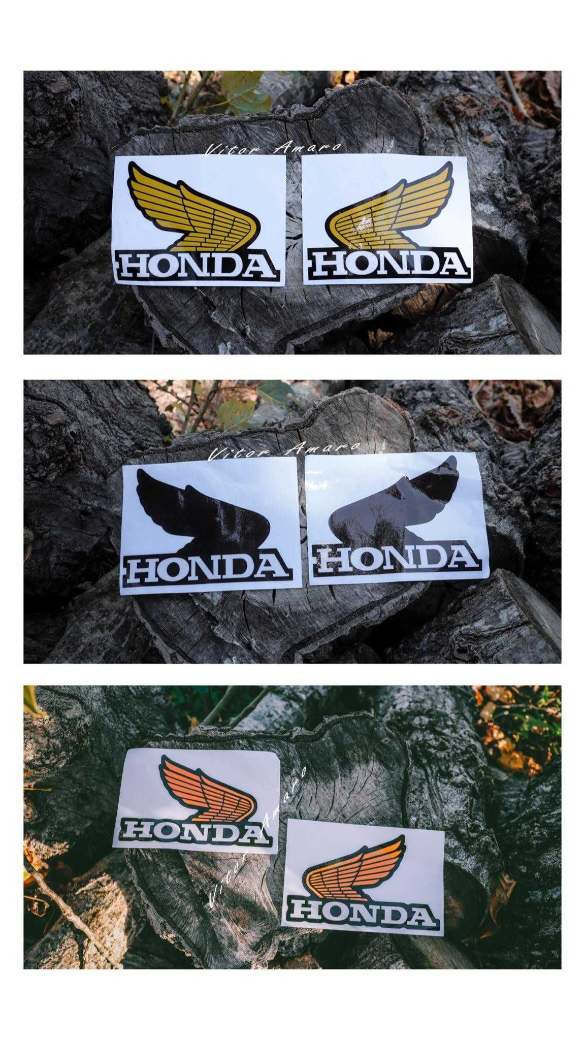 2 Autocolantes para Moto Honda (3 Cores) NOVOS