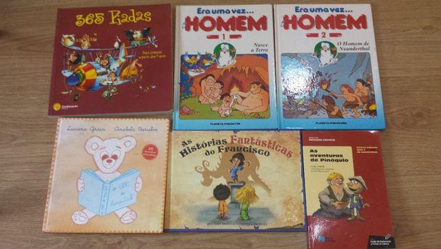 livros variados infantil e juvenil