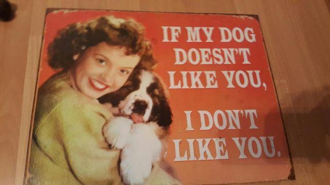 Placa decorativa nova My dog's likes