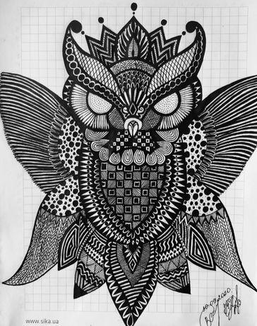 Продам рисунок совы.