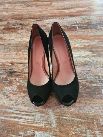 Buty, czółenka czarne rozm 39 firmy Pamar
