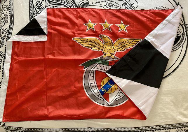 Bandeira S. L. Benfica / Brasão de Lisboa - 1,50cm x 90cm