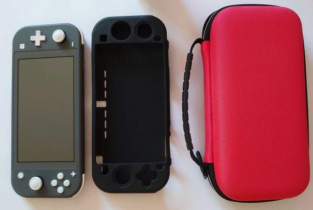 Nintendo Switch Lite Grey (Szara) Idealna JAK NOWA - zestaw