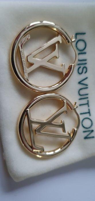 Kolczyki Louis Vuitton logo pokryte 18k złotem Włocławek - image 1