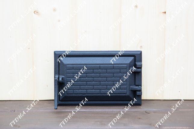 """Дверца чугунная поддувальная крашеная 165х265мм 3.5кг """"Замковая"""""""
