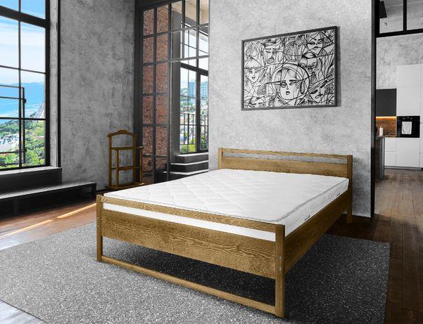 łóżko drewniane do sypialni COMO 140x200 mocna solidna konstrukcja