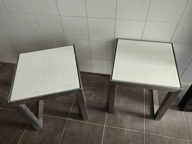 Mesa centro / banco pernas em aço