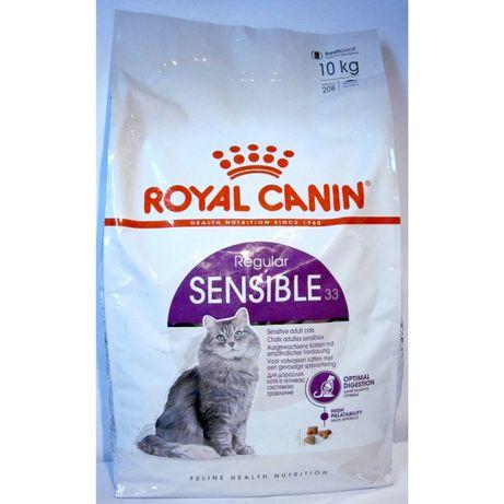 Royal Canin Sensible 10 кг для котов с чувствительным пищеварением