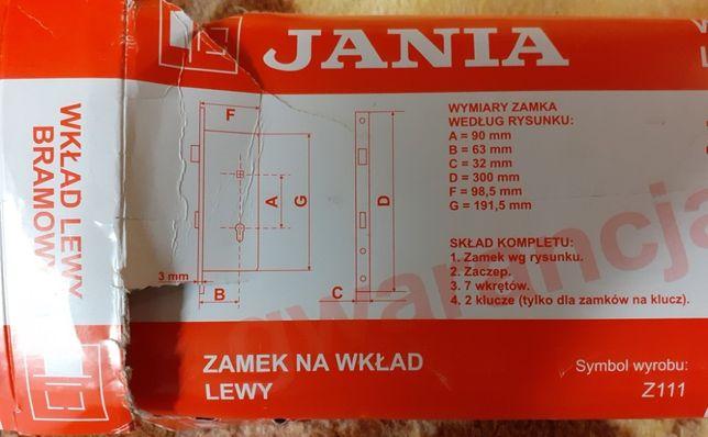 kaseta zamka bramowego i zamek wpuszczany lewy Jania Z111