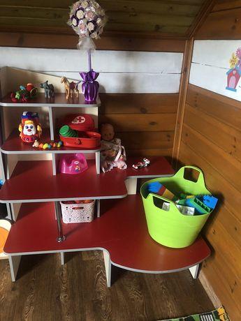 Полки, стеллаж, для детского сада, центра