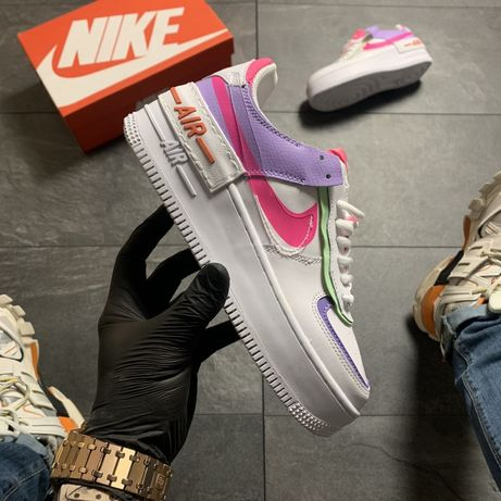 Nike Air Force Shadow White Violett