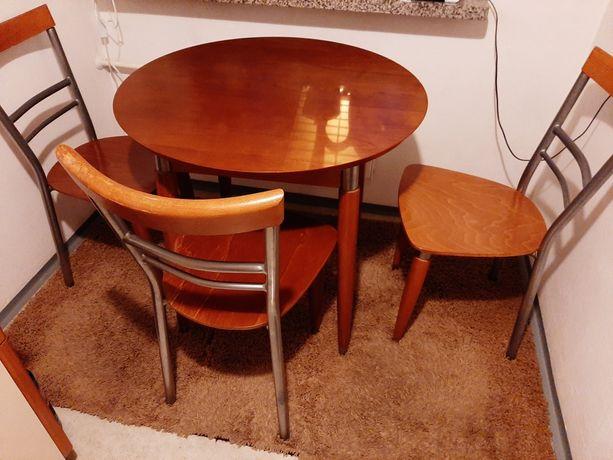 Stół krzesła komplet Black Red White BRW w pięknym stanie TANIO