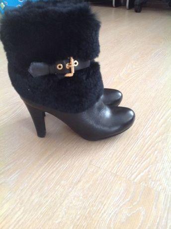 Ботинки зимние женские кожа р.38
