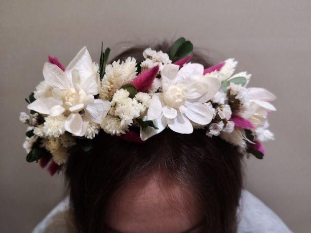 Свадебный венок из сухоцветов