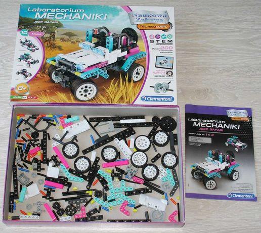 10w1 Laboratorium mechaniki 200 el. klocki j. Lego Technic Clementoni!