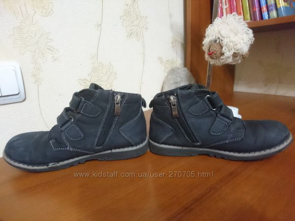 Утепленные ботинки на мальчика. Натуральная кожа