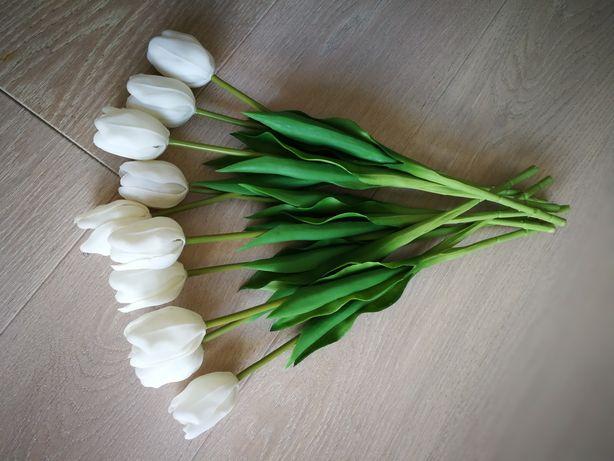 Białe tulipany jak żywe 10 szt