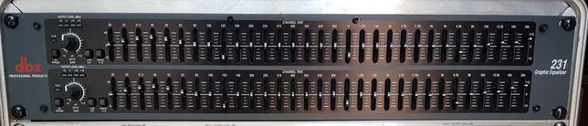Equalizador gráfico - dbx 231 - como novo