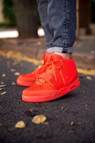 Мужские кроссовки Nike Air Yeezy 2 Red October найк красные 41-45
